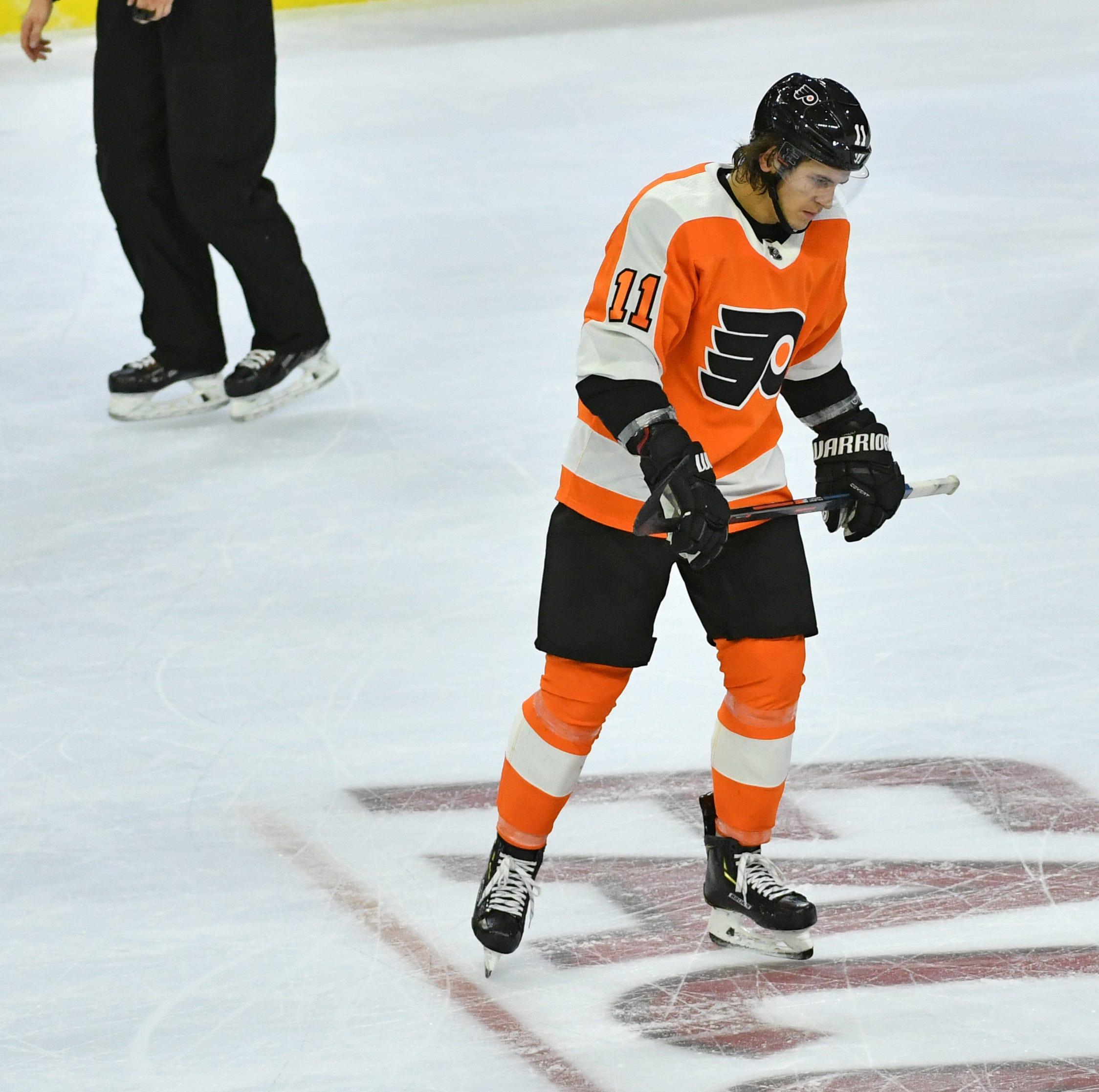 Flyers' Travis Konecny still joking despite his poor puck luck