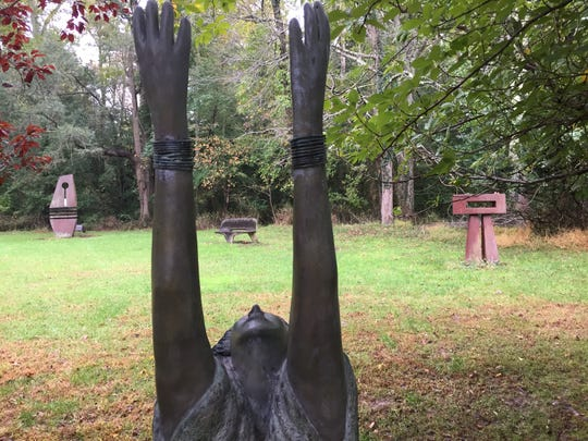 Rowan College at Burlington County is looking to sell its former campus in Pemberton Township, the home of a sculpture garden.