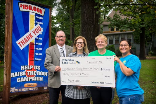 Columbia Bank Foundation grant helps Middlesex Recreation Council PHOTO CAPTION