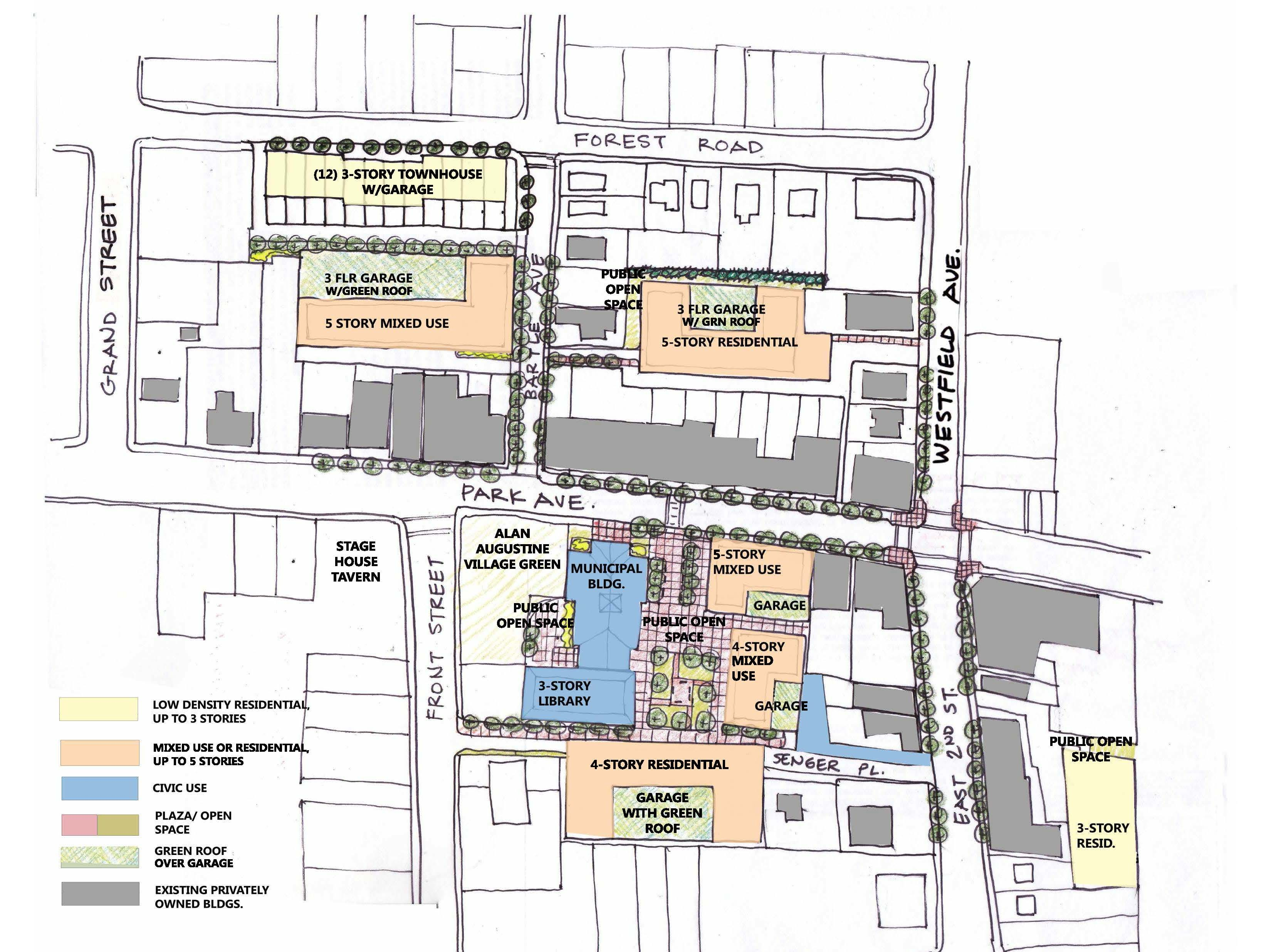 A look at the first tier of the three-phase downtown redevelopment plan in Scotch Plains, which aims to boost the local economy, while complying with state affordable housing requirements.