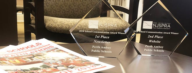 The Perth Amboy Public Schools District received first and second place honors for it's newsletter and website communications