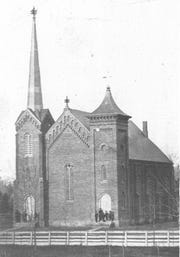 The Coshocton Presbyterian Church brick building that was used from 1868 to 1904.
