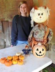 Stacia Hatfield is growing and selling pumpkins as her FFA project through high school. This year she had about 150 pumpkins and has sold most of them.