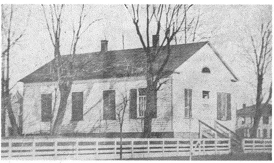 The first Coshocton Presbyterian Church building in 1834.
