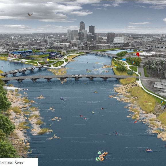 Hubbell Realty makes major donation to $117 million plan for Des Moines' rivers and streams