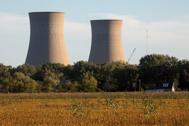 The Fermi II nuclear plant is one of the Michigan plants accumulating highly radioactive spent nuclear fuel stored all around the Great Lakes in Newport, Mich., Wednesday, September 26, 2018.