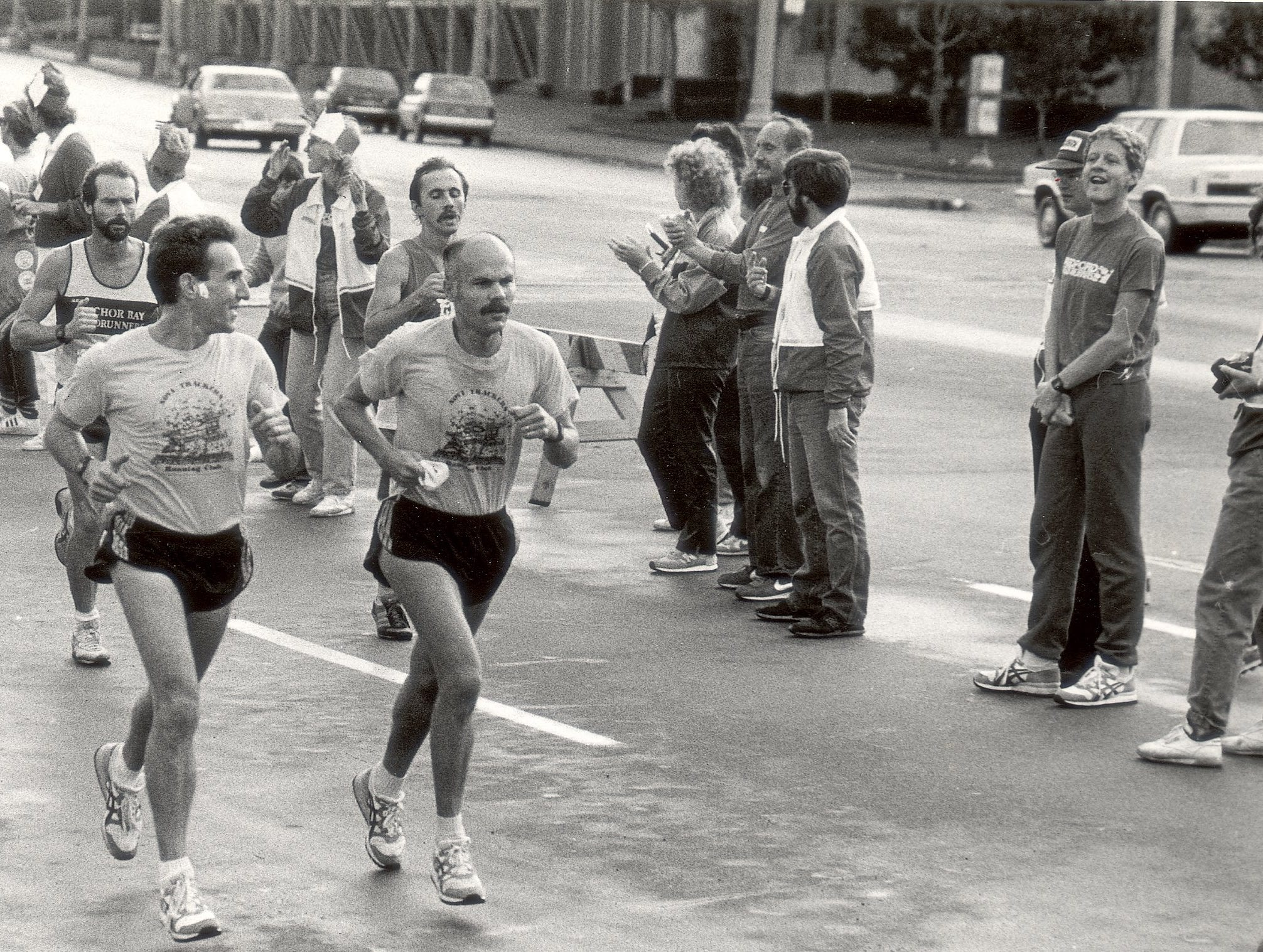 Runners participate in the Detroit Free Press marathon on Oct. 14, 1985.