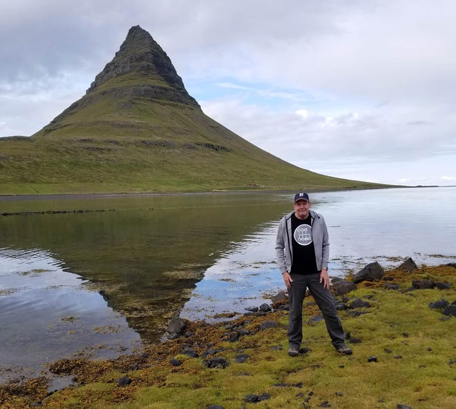 """Clawson resident Juliann Tilley photographed her husband, Kevin Tilley, when they took the D to Kirkjufell Mountain near the town of Grundarfjorour, Iceland, in August. Some scenes from HBO's """"Game of Thrones"""" have been shot at the mountain."""