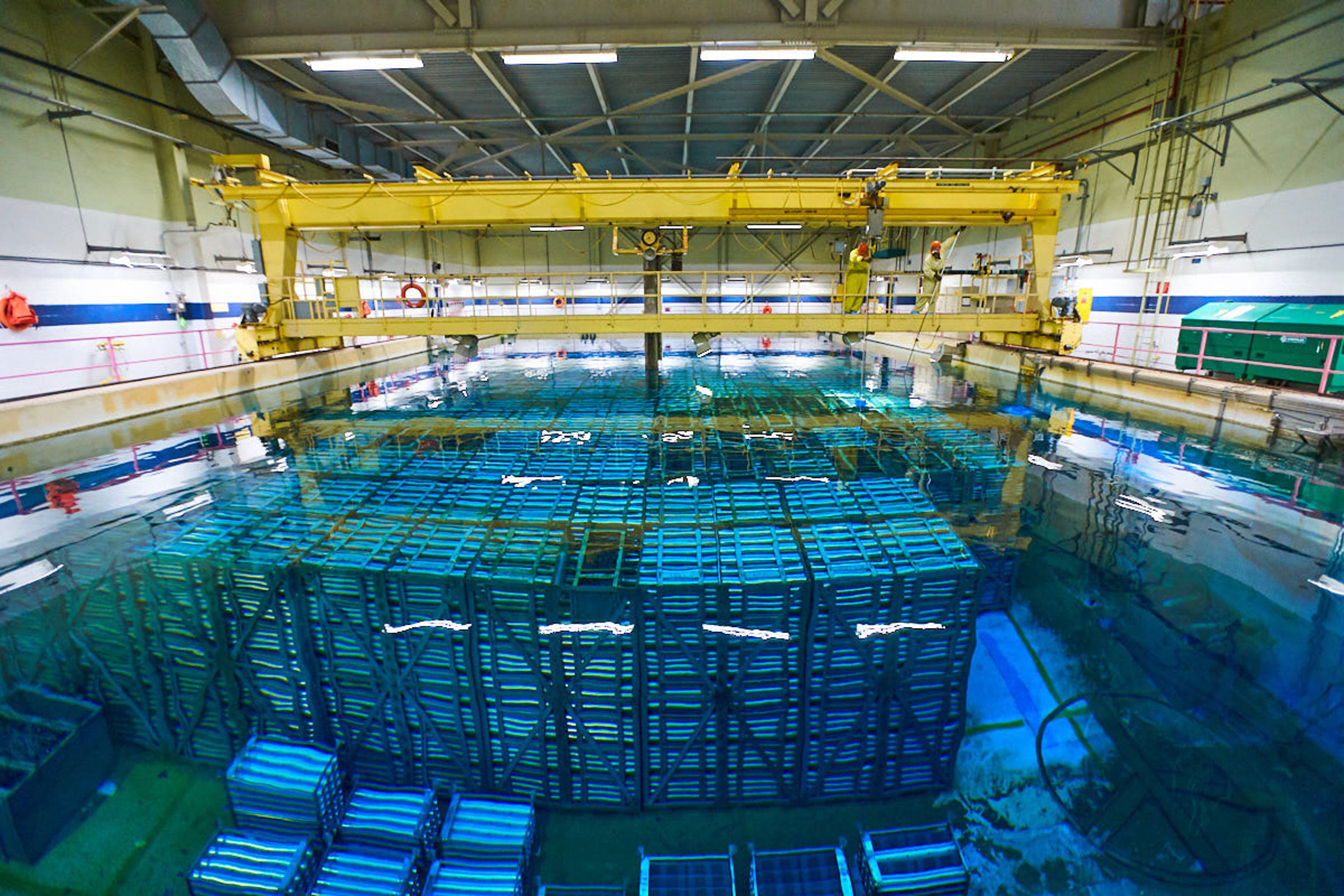 Spent nuclear fuel is stored in a pool at the Pickering Nuclear Generating Station in Pickering, Ontario in this July 24, 2018 photo.