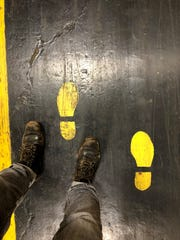 Safety Aisle Markings at Wayne Assembly Plant (now-closed) artist Tony Roko helped create for Ford.