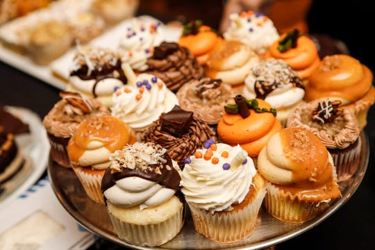 Gourmet cupcakes from Holiday Market during the 2017 Whisked: A Holiday Baking Event presented by the Detroit Free Press and the Metro Detroit Chevy Dealers at Great Lakes Culinary Center in Southfield.