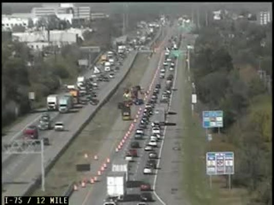 I 75 Traffic Map.I 75 In Troy Reopens After Power Line Cleared