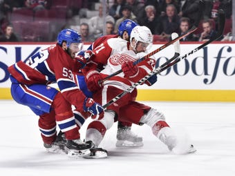 The Red Wings are falling apart, losing 7-3 to the Canadiens, and say only hard work will help. Recorded Oct. 15, 2018 in Montreal.
