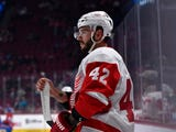 Martin Frk wants to be a regular for the Detroit Red Wings, he said in this interview on Tuesday, Oct. 30, 2018 in Columbus, Ohio.