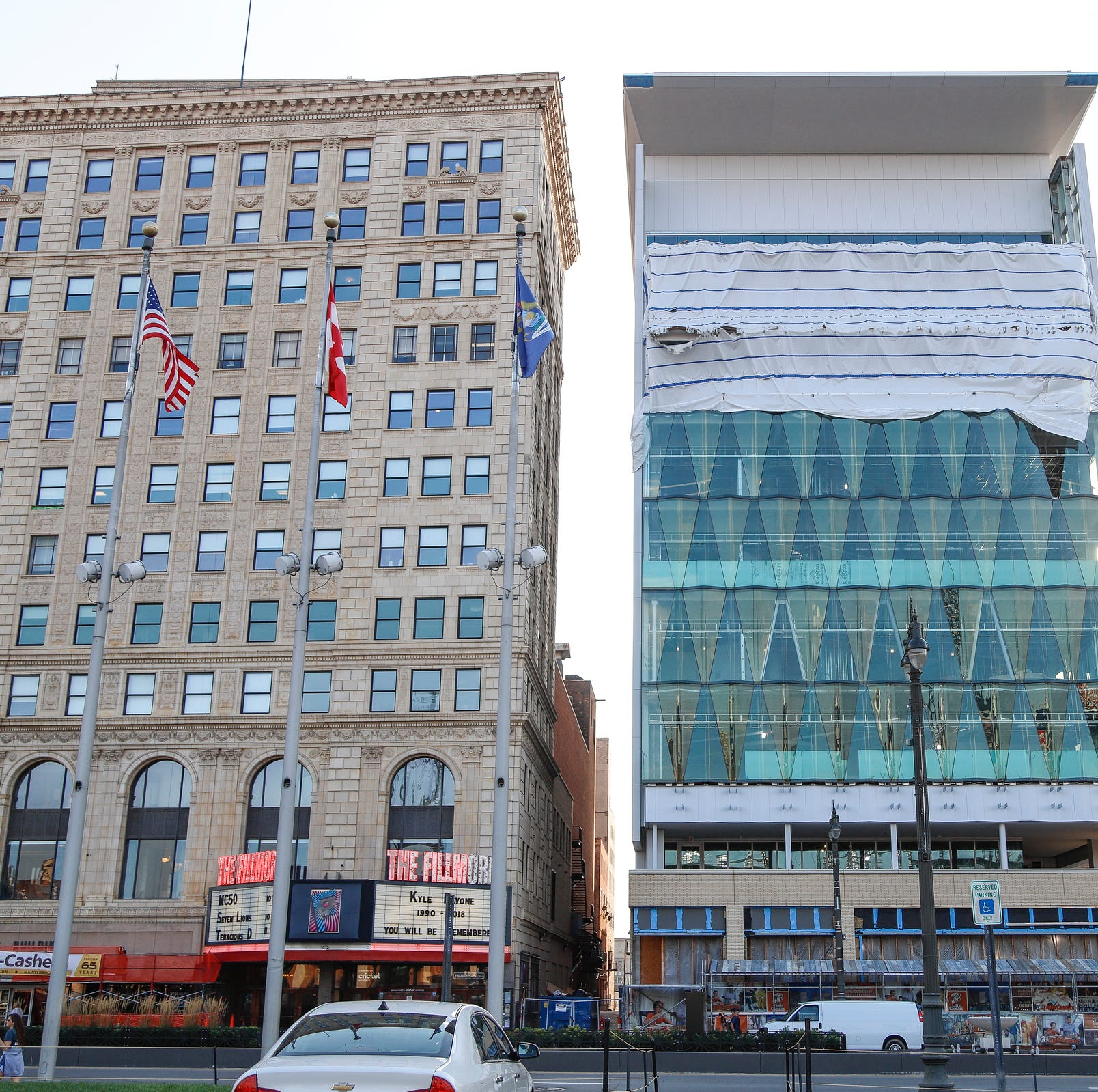 Those pizza-slice windows may be delaying Little Caesars HQ opening