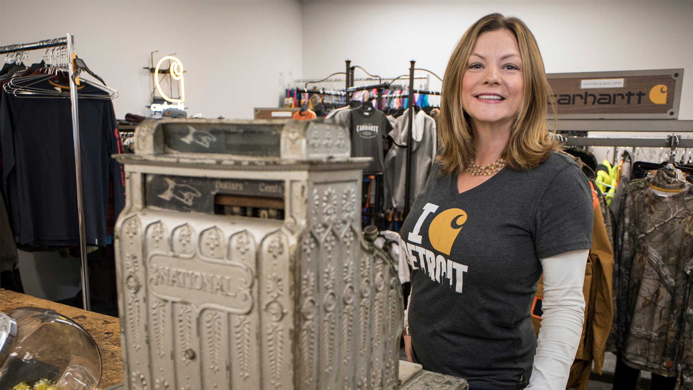 Jamie Cummings, a customer service manager with Carhartt, is thrilled to be able to get $50 a month toward her student loan debt from her employer. Dearborn-based Carhartt is offering a lifetime maximum of $10,000 to qualified employees to pay down college loans.