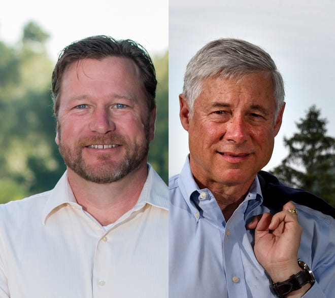 Matt Longjohn, left, and U.S. Rep. Fred Upton, R-St Joseph