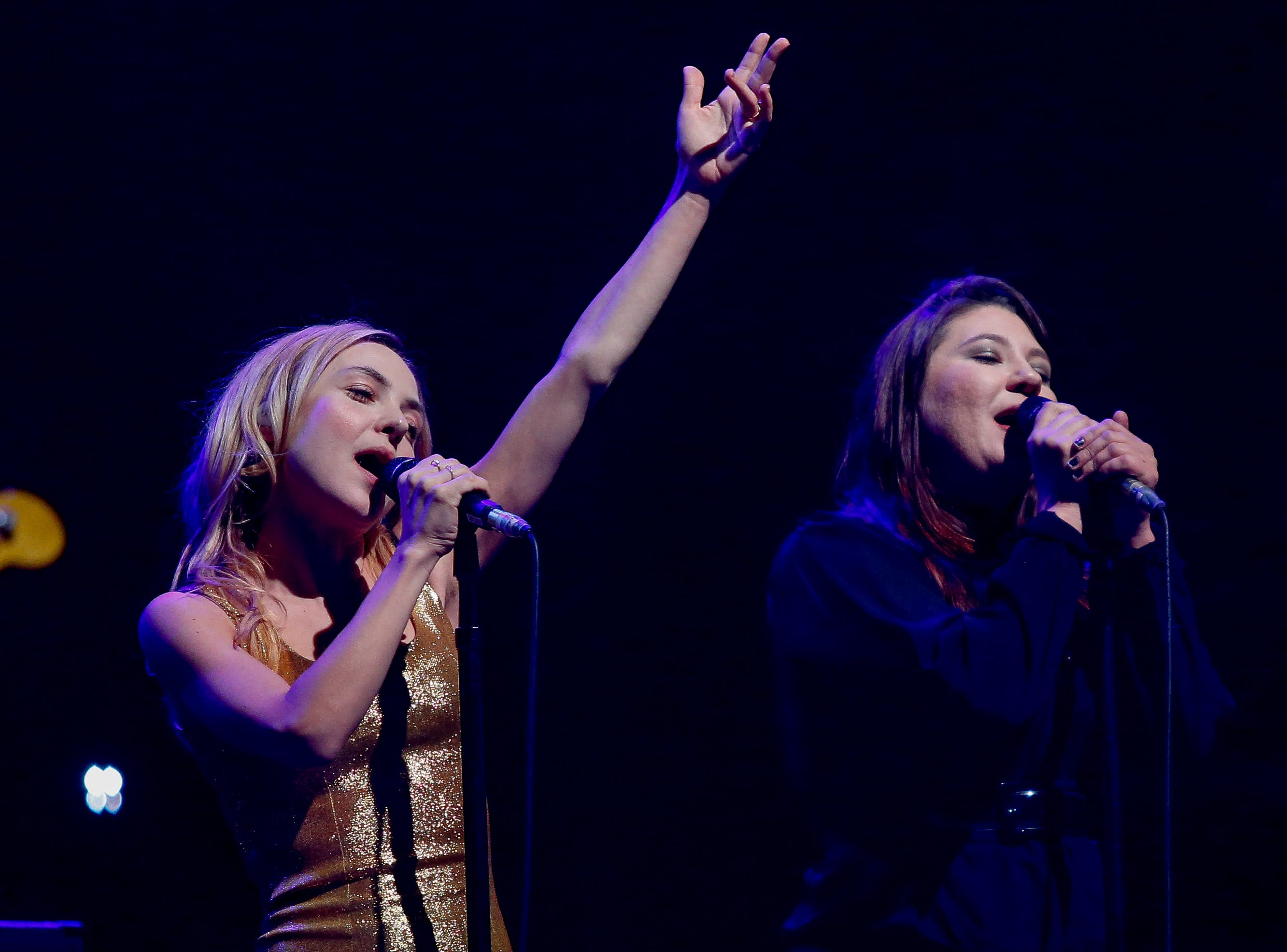 Samantha Sidley and Laura Mace sing backup vocals for the Foo Fighters.