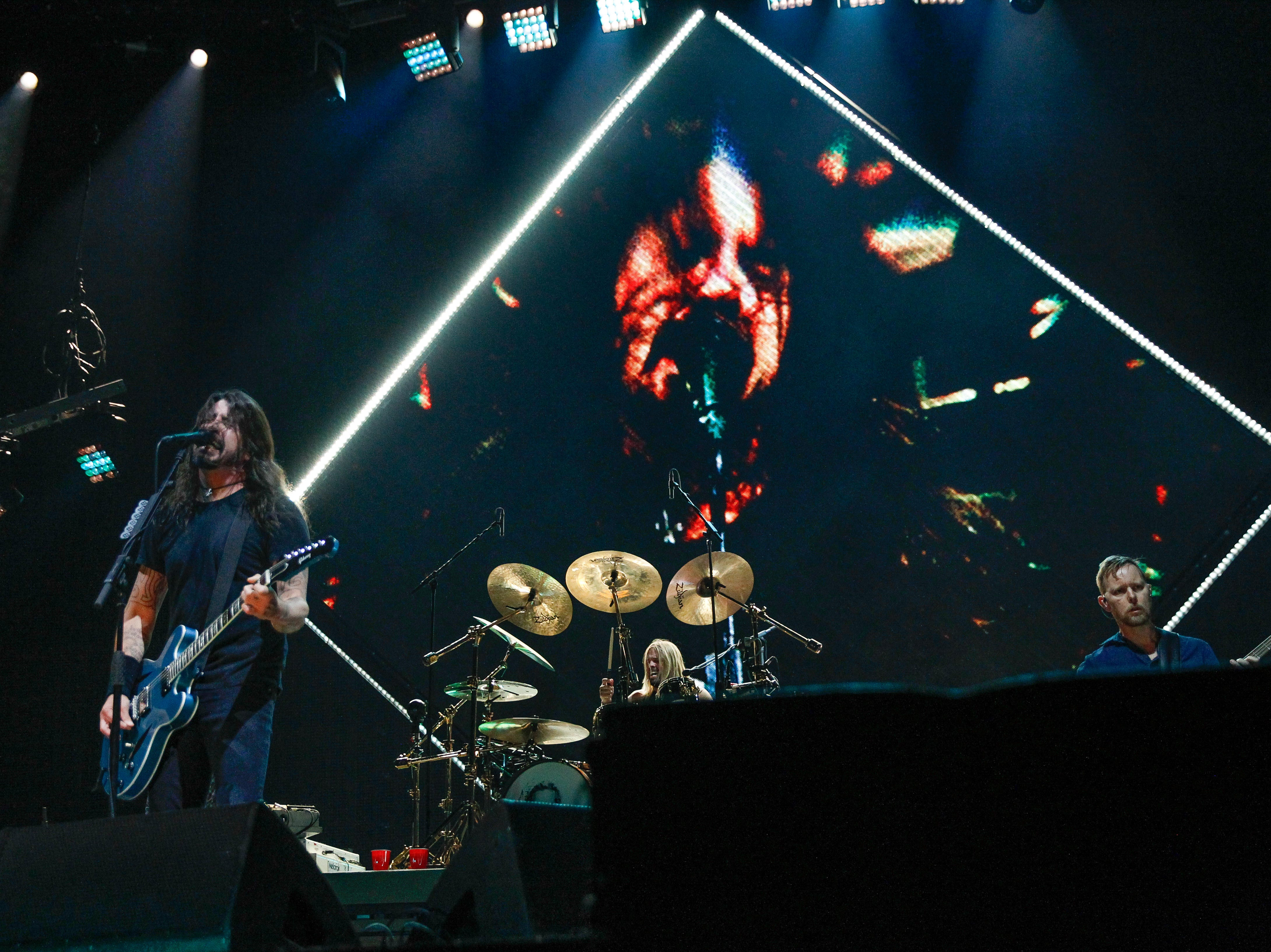 """The Foo Fighters' Monday night show at Little Caesars Arena is one of the last four on the schedule after 1-1/2 years of touring in support of the """"Concrete and Gold"""" album, frontman Dave Grohl, pictured, said."""