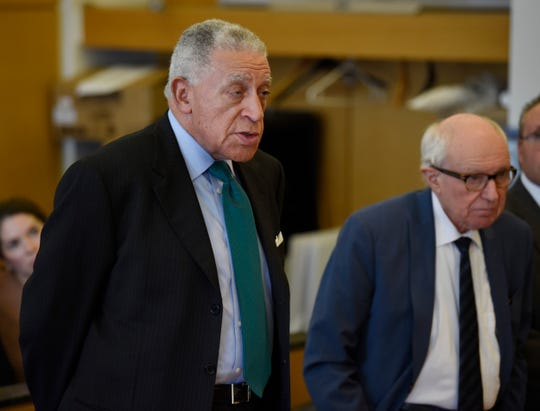 Elliott Hall, left, and Mayer Morganroth, attorneys for Sharon McPhail, asked the court for a two-week recess so she and the conservator for Detroit Community Schools can negotiate a settlement to a lawsuit against her.