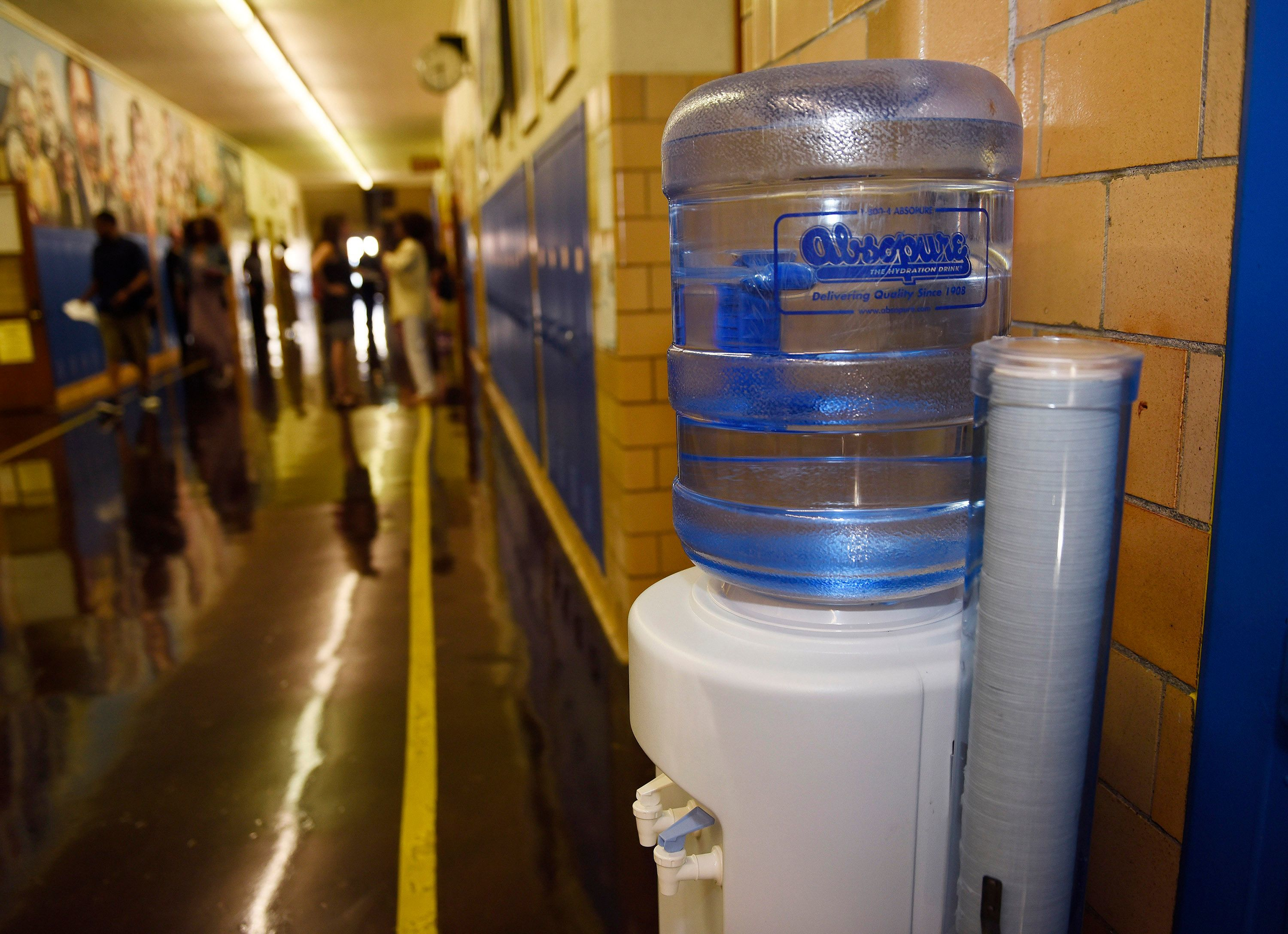 DPSCD has been using water stations and bottled water while the district determines a permanent means to deliver safe, clean water to students.