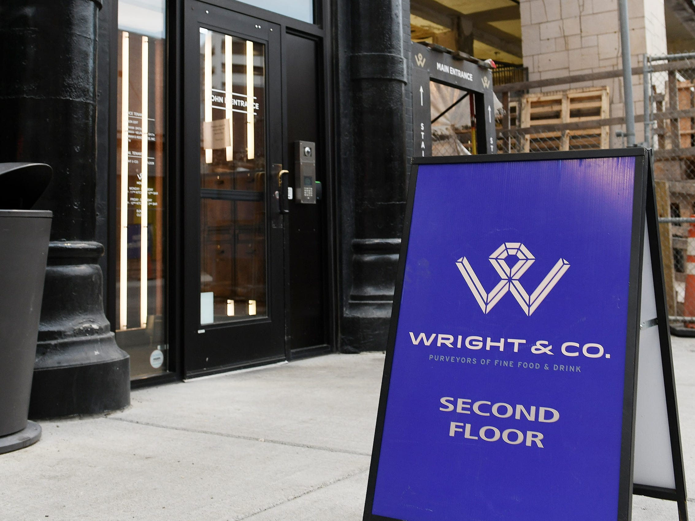 The entrance to Wright & Company is on John R. Street.
