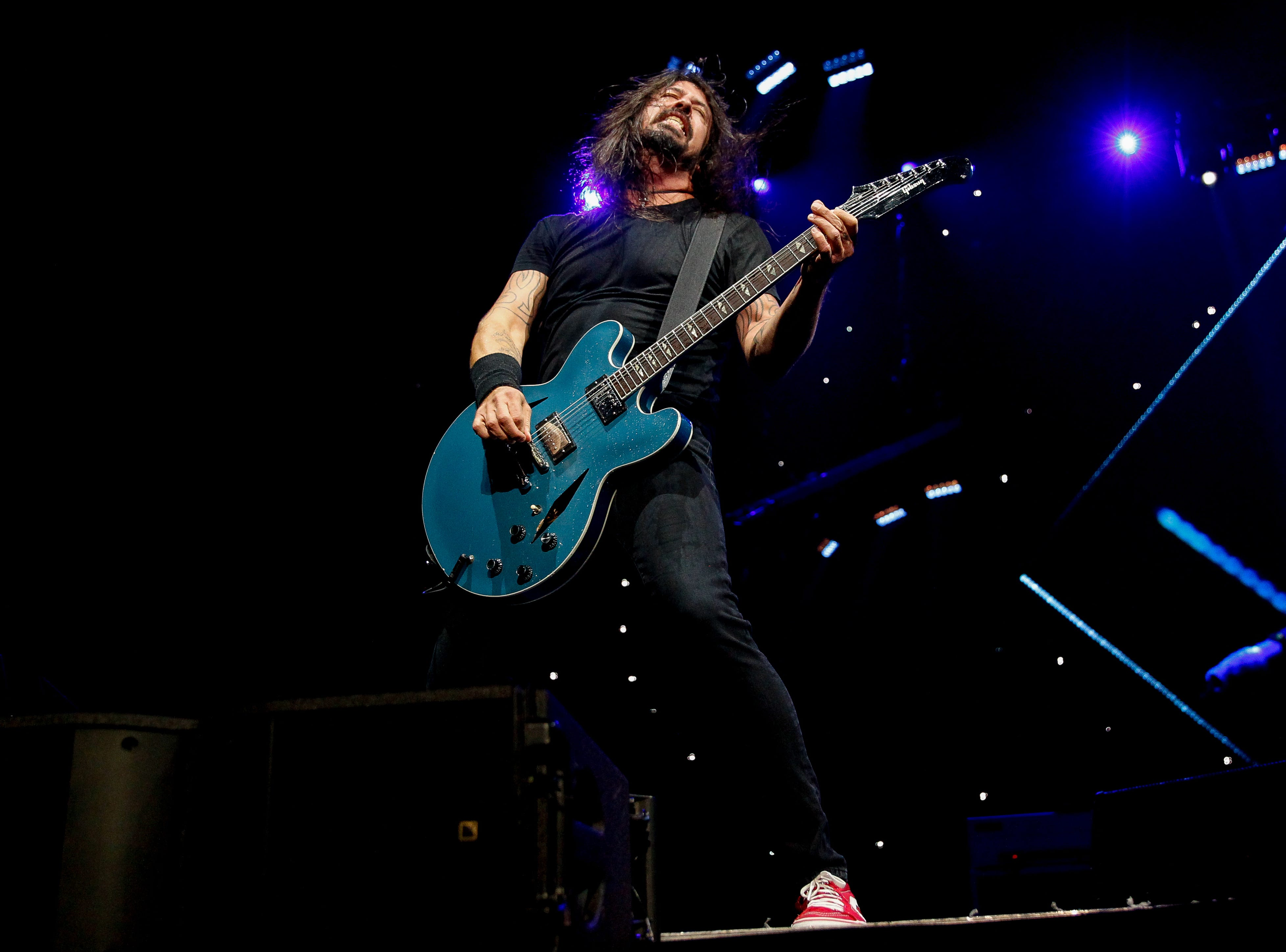 Dave Grohl, of the Foo Fighters, Monday at Little Caesars Arena.