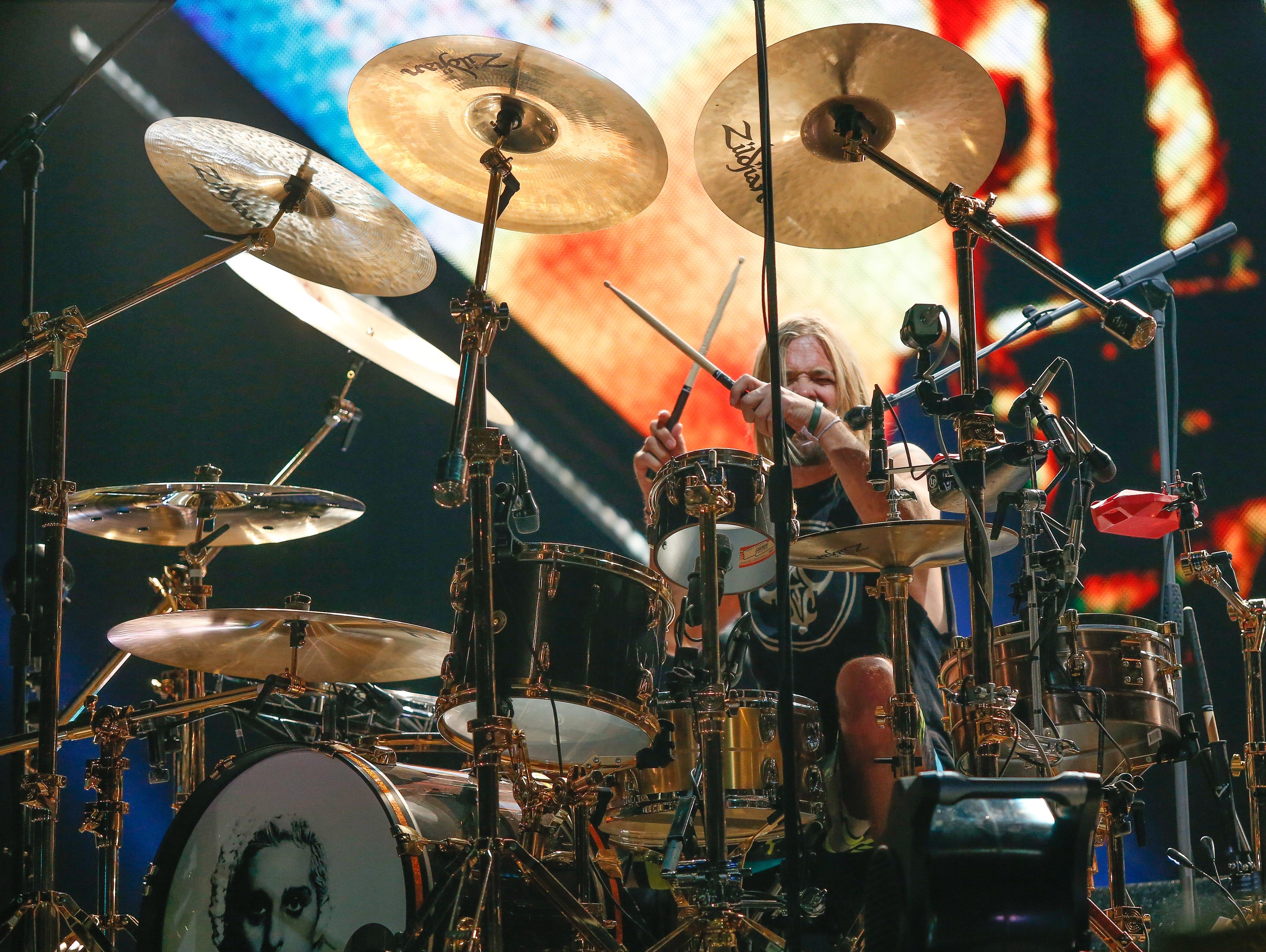 Drummer Taylor Hawkins of the Foo Fighters.