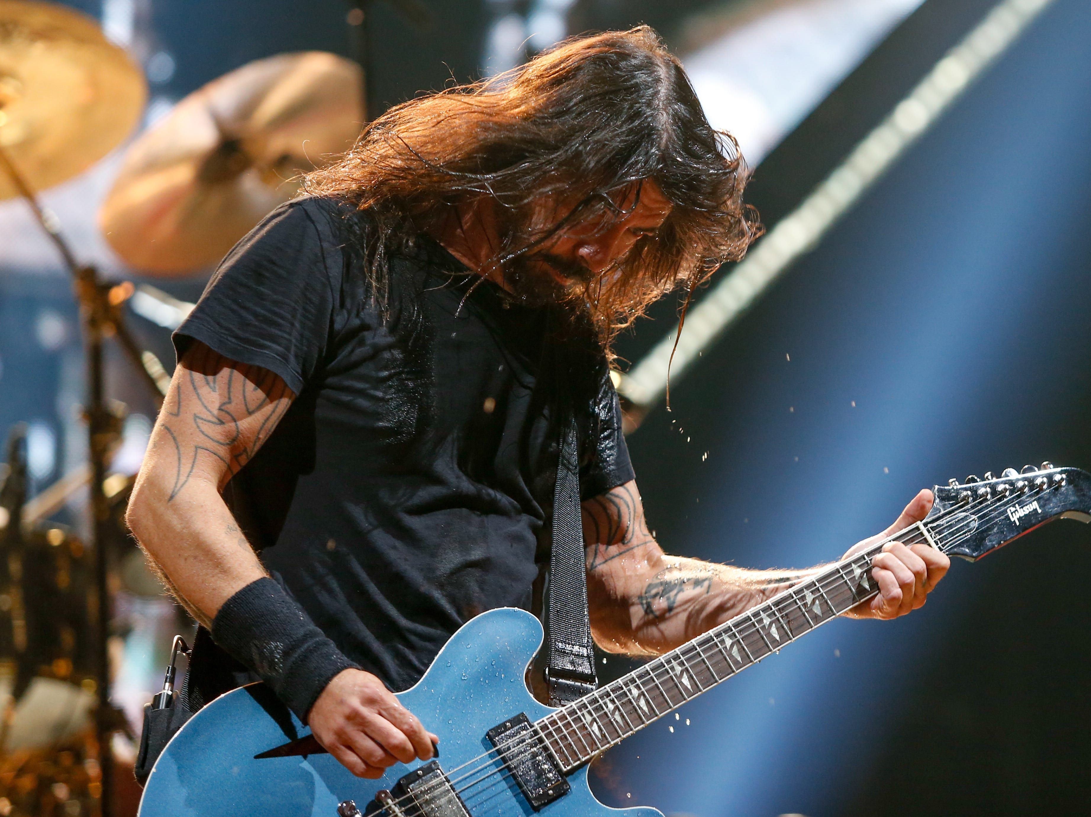Foo Fighters frontman Dave Grohl recalled for the crowd the band's 24-year history of playing Detroit venues, from Cobo Hall to Joe Louis Arena to Little Caesars Arena. He joked the band's next Detroit gig would be the basement of Saint Andrews Hall.