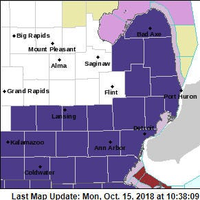 Freeze warning issued for SE Michigan