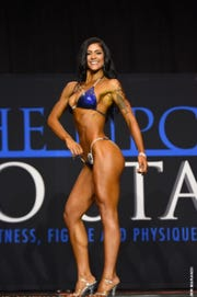 Hannah Gippert won first place in the Bikini True Novice Competition and second place in the Open Bikini Class D Competition in Columbus on Sept. 29.