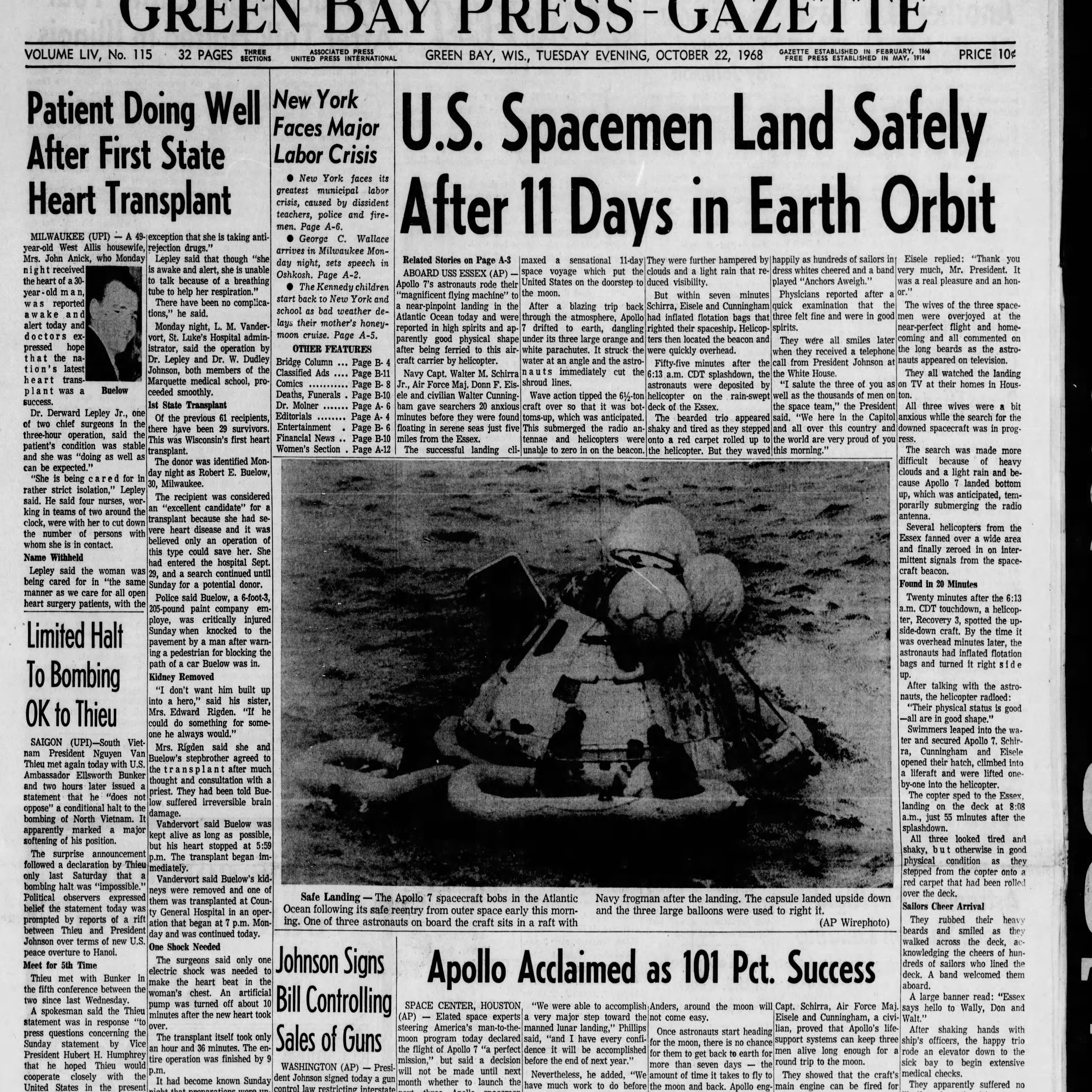 Green Bay Press-Gazette Today in History: Oct. 22