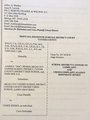 The Miles City Unified School District has filed a response to a lawsuit filed against it in September.