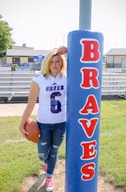 After dancing and cheerleading, Hope Nelson played football her senior year at Indian Creek High School.