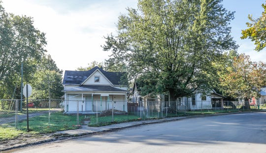 Three homes next to the former site of the Christian Unity Missionary Baptist Church, (1258 Windsor St.), where construction of the purpose-built Windsor Park Art Cinema will take place, will be part of the new development, Tuesday, October 16, 2018. The homes will be renovated in the historical style of the neighborhood to house small businesses, including Amelia's.
