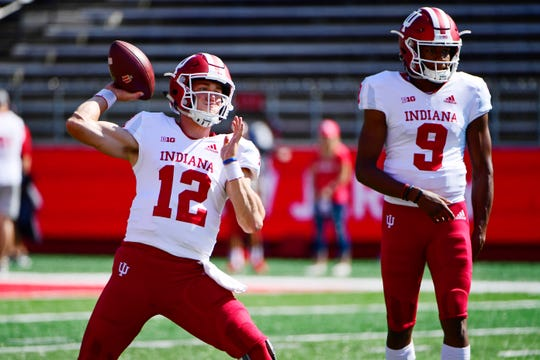 IU freshman backup QB Michael Penix (9) has seen action in two games this season.