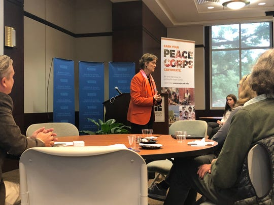 Peace Corps Director Judy Olsen spoke to UT students and former Peace Corps Volunteers on Tuesday afternoon. Olsen was on campus to launch the Peace Corps Prep program at UT.