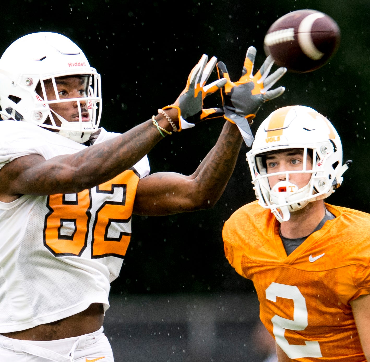 Tennessee players drill during Tennessee fall...