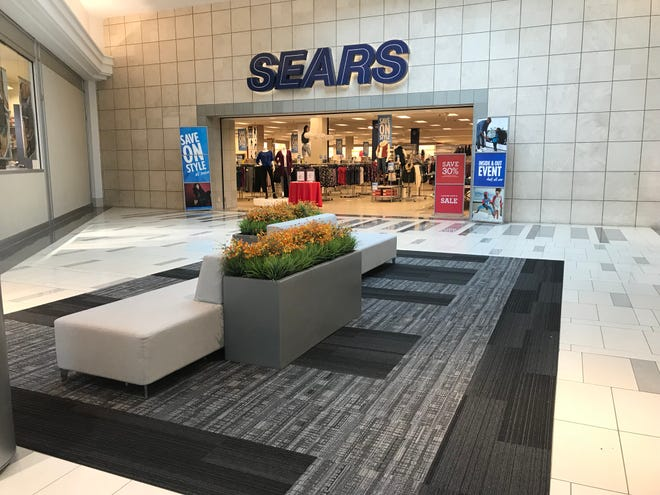 The Sears entrance inside West Town Mall on Oct. 15, 2018, the day Sears announced its filing for Chapter 11 bankruptcy.