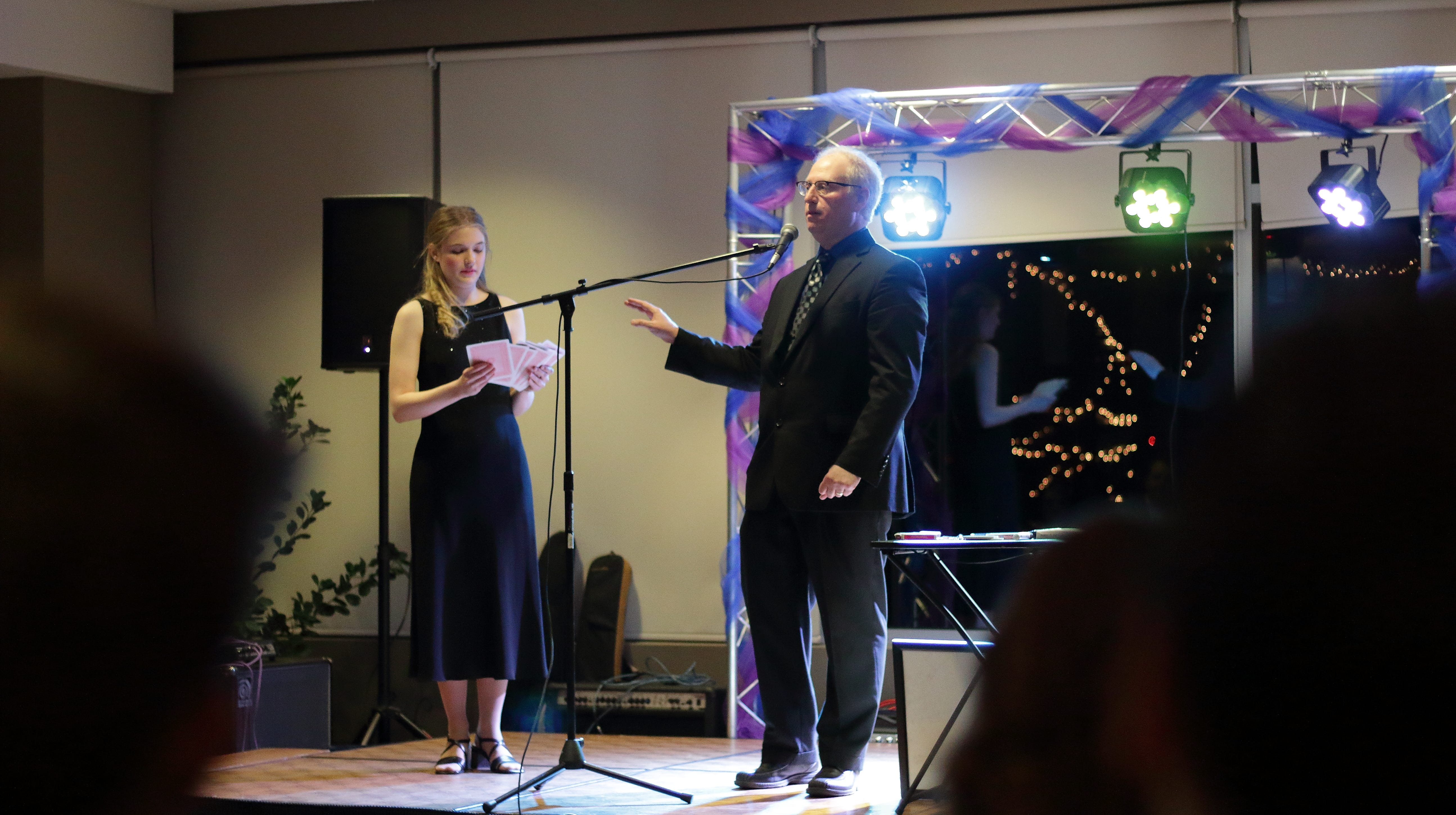 Magician Scott Starkey, right, brings his interactive show to the Art Museum of Greater Lafayette on Oct. 30.