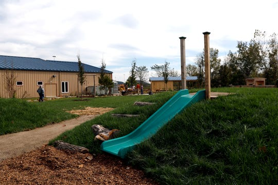 Hill slides will be part of the outdoor education and play area at AHA! A Hands-On Adventure, A Children's Museum in Lancaster.