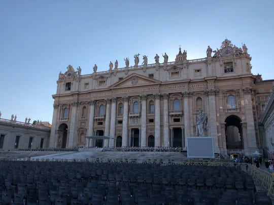 St. Peter's Basilica in Vatican City as seen on Sept. 8, 2018.