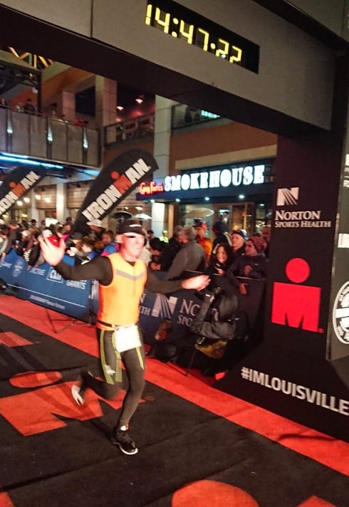 Randall Bowden finishes Ironman Louisville