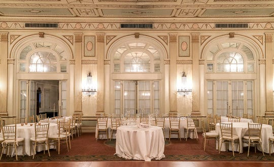 The Brown Hotel's crystall ball room.
