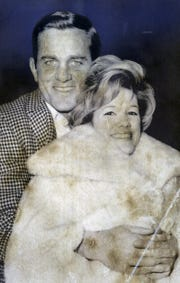 Don Meredith and Cheryl King, the parents of Heather Meredith, shown in a 1968 photo after their marriage in 1965.