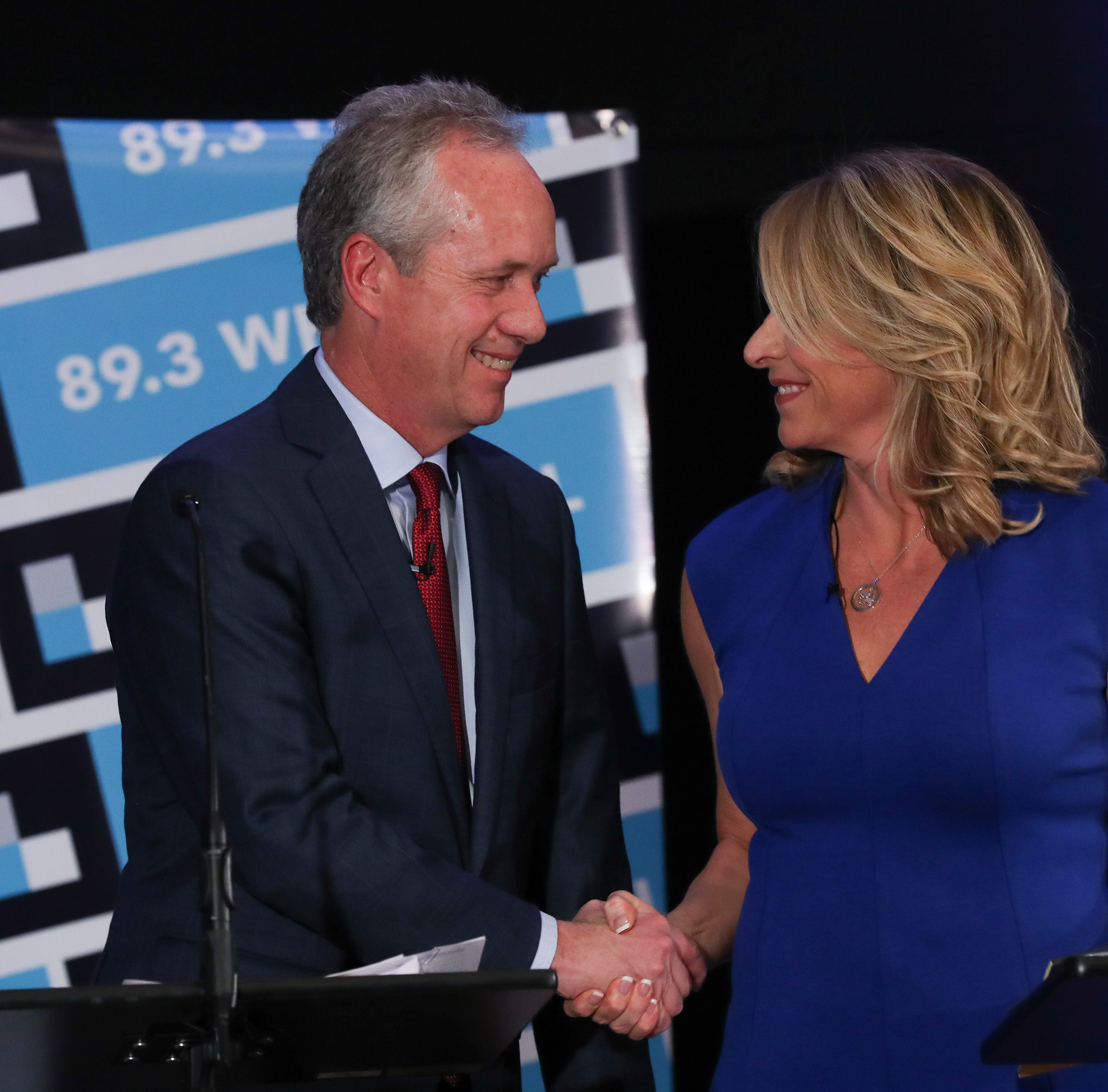 Fischer, Leet offer starkly different pictures of Louisville at debate