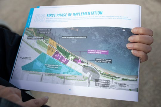 A map of the Phase Four section of Waterfront Park shows the planned features and their locations. Oct. 11, 2018