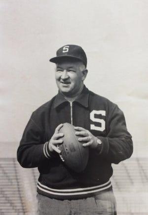 MSU Football Coach Duffy Daugherty, 1961.