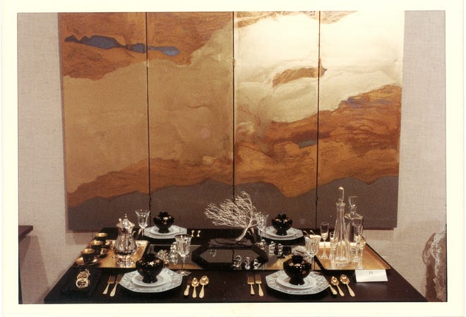 """Bonsai"" tablesetting created by Ruth West in 1978."