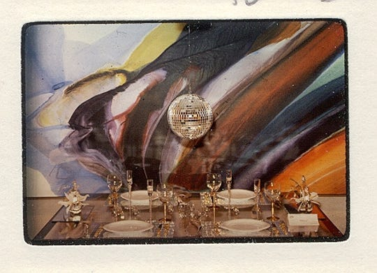 'Disco' tablesetting created by Ruth West in 1980.